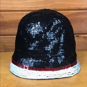 Juicy Couture Accessories - Juicy Couture 👑 High Crown Black Sequin Hat